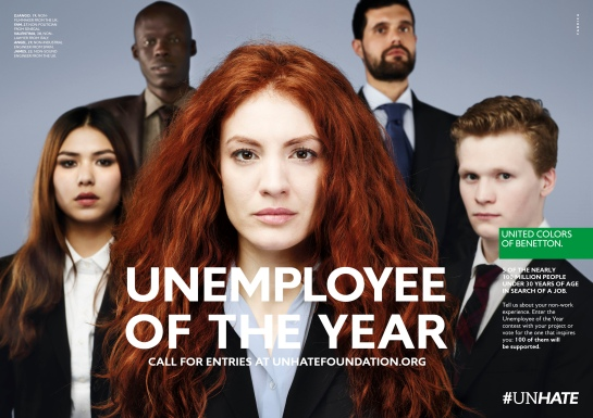 Benetton Unemployee of the Year Kampagne